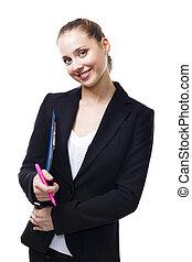 decente, mujer, joven, empresa / negocio