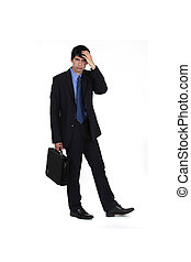 decepcionado, hombre de negocios