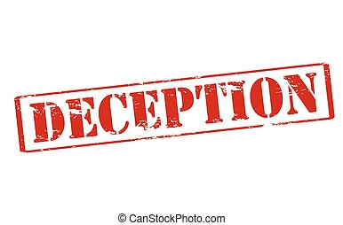 Deception - Rubber stamp with word deception inside, vector...