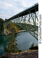 Deception Pass State park in Washington, USA