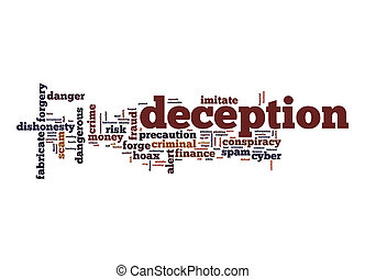 Deception word cloud