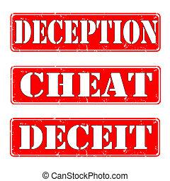 deception,cheat,deceit