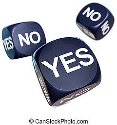3D illustration about making a decision