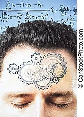decide, equação, mente, homem