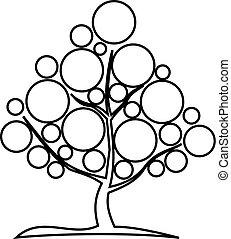 deciduous tree,  contour tree ,