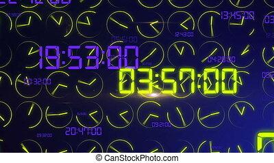 """Decimal digits and clock arrows turning crazily"" -..."