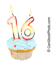 decimosexto cumpleaños, cupcake