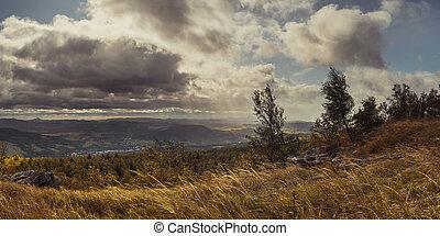 decinsky, podzim, čech, krajina, nadutý, vysočina, deska, ...