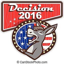 decisão, 2016, democrata, burro