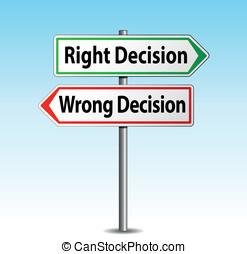 decisão, setas, sinais