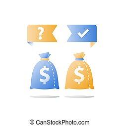 decisión, financiero, finanzas, allocation, signo de interrogación, opción, seguridad, capital, cartera, inversión