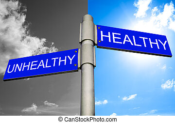 Decision between Healthy and Unhealthy