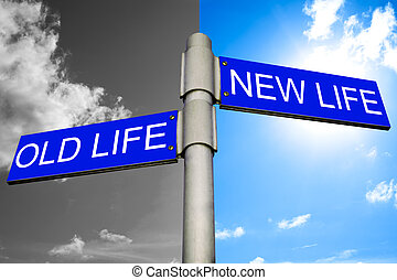 Decision between Old Life and New Life