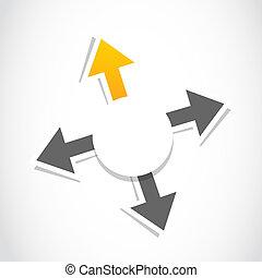 decision, choice arrow