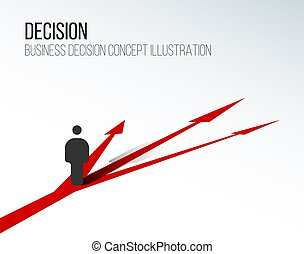 Decision concept illustration