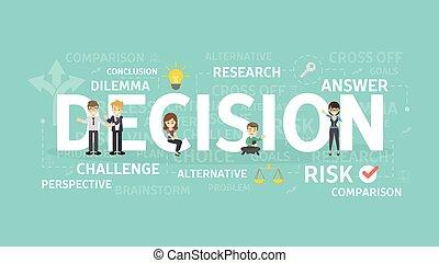 Decision concept illustration.
