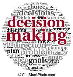 Decision concept in tag cloud - Decision making concept in...