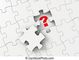 decision., direita, answer., achar, maneira