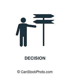 Decision icon. Monochrome style design from business ethics icon collection. UI and UX. Pixel perfect decision icon. For web design, apps, software, print usage.