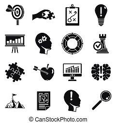 Decision icon set, simple style