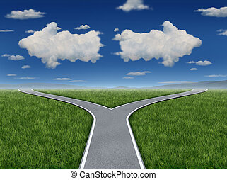 Decision Inspiration as a group of clouds in the shape of an...