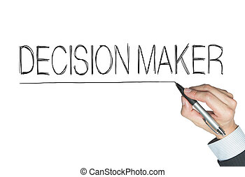 decision maker written by hand