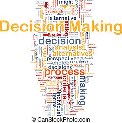 Decision making background concept
