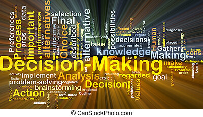 Decision-making background concept glowing - Background...