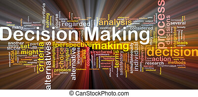 Decision making background concept glowing - Background...