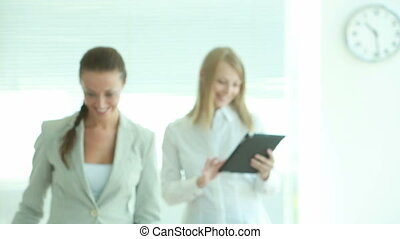 Decision making - Female business partners making a...