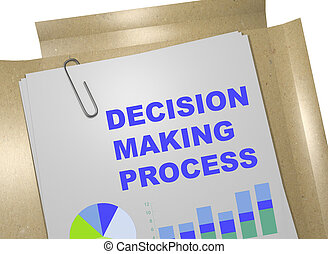Decision Making Process concept