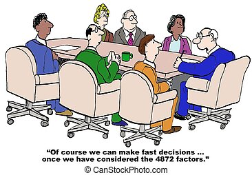 Decision Making - Business cartoon around the complexity of...