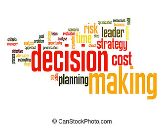 Decision marking word cloud