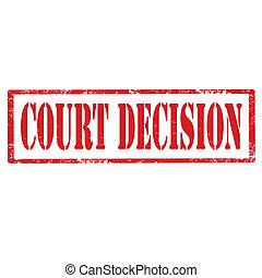decision-stamp, gericht