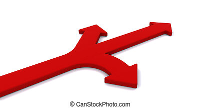 Decision time - Arrows pointing in different directions