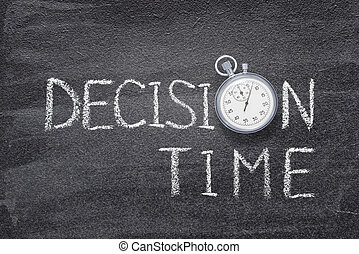 decision time watch