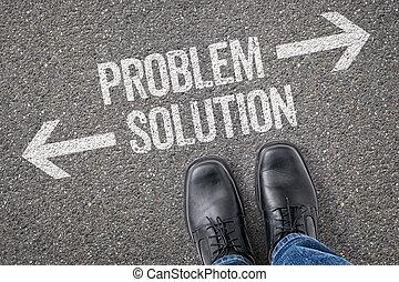 decisione, a, uno, incrocio, -, problema, o, soluzione