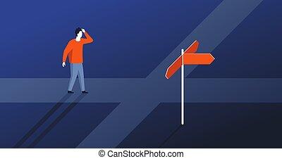 decisione, scegliere, direzione, fabbricazione, destra