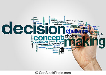 Decisionmaking word cloud