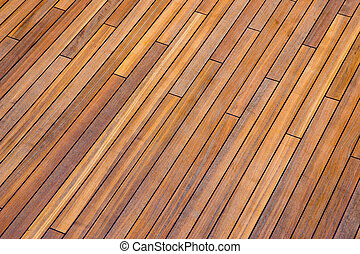 Deck boards on ship