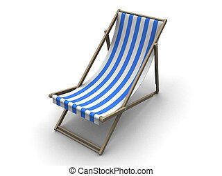 deck chair - 3d rendered illustration of a siple sun lounge