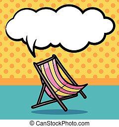 Deck chair color doodle