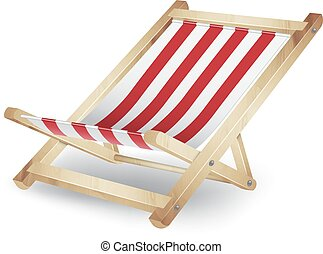 Deck chair isolated on white. EPS10 vector
