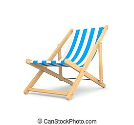 Sonnenstuhl clipart  3d rendered illustration of an isolated deck chair clipart ...