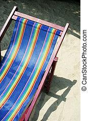 Deck chair - Bright blue deck chair