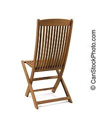 Deck Chair - A deck chair isolated against a white...