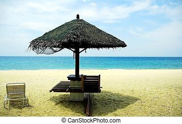 Deck chair - deck chair at the beach