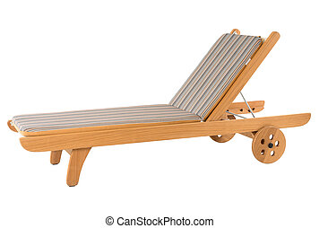 Deck chair isolated on white