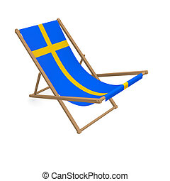 Deck chair with the flag or Sweden