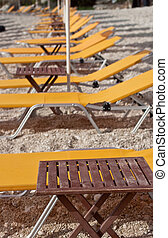 Deck chairs beach, Petani beack - Kefalonia